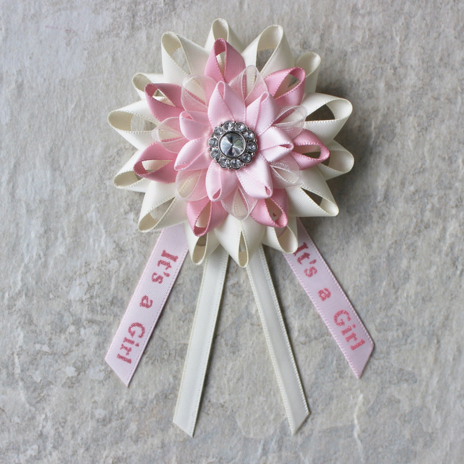 Baby Girl Shower Decor, Girl Baby Shower Gift, Mom To Be Pin, Its A Girl  Pin, Mommy To Be Pin, New Mom Gift, Ivory, Pink Baby Shower