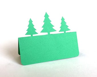 Pine Trees Place Cards, wedding place cards, wedding escort card, rustic wedding, forest wedding