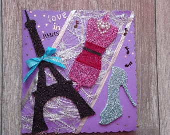 "Card ""love in Paris"" all occasions"