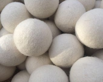 FREE Ball Set of 6 for the Price of 5 Plain Wool Dryer Balls Keep it Simple Save Money