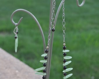 Blades of Grass Necklace and Earring Set