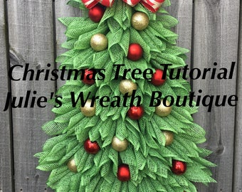 Christmas Tree Tutorial, DIY, Christmas Wreath Tutorial, Video Tutorial, Make Your Own Wreath, Christmas Tree
