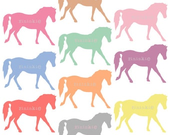 Pony Clip Art - Digital Clip Art - Horse Clip Art - Pastel Clipart - scrapbooking - Instant Download - Commercial Use - PNG / JPG
