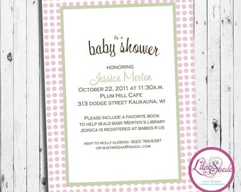 Love in the eiffel tower - baby shower invitation - DIY - PRINT YOURSELF or purchase prints