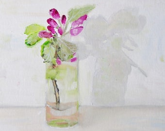 Daily Painting Still Life Flowers From The Artists Garden - Original Oil Painting