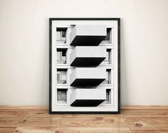 Abstract Art Photography Building Print Poster