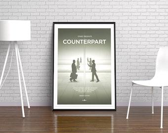 Counterpart Art Poster Print Minimalist Poster - TV Print, Film Poster, Art Print, Home Decor, Wall Art