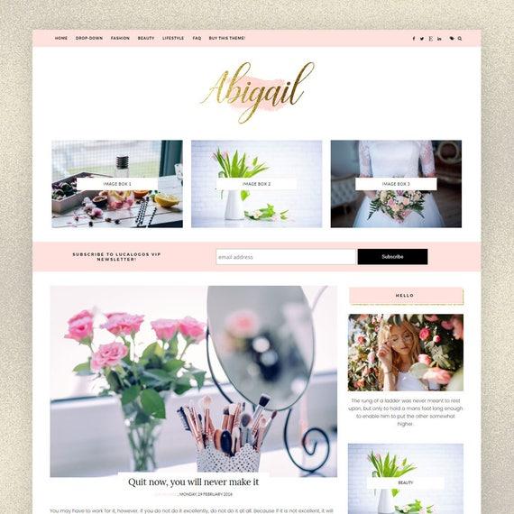 Chic Blogger Template Abigail Feminine Blogger
