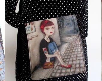 Colorful fancy shoulder flap Messenger bag