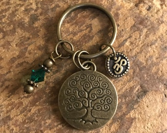 Tree of Life Keychain for that special someone or occasion, yoga accessories, om gifts for her or him