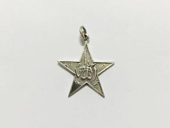 Genuine 925 sterling silver star pendant islamic necklace te gusta este artculo aloadofball Choice Image