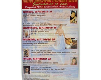 Native American Heritage Week Program Signed Billy Mills Olympic Gold Medalist