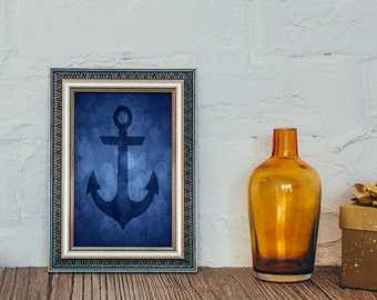Anchor Print, Nautical Decor, Anchor Art, Anchor Decor, Nautical Prints, Bathroom Decor, 4 x 6, 5 x 7