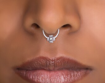 Fake Septum Ring For Non Pierced Nose . Available in gold plated, brass and sterling silver