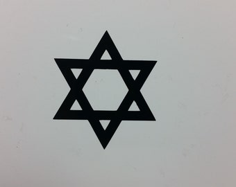 Star of David Jew Jewish Israel symbol decal sticker, several sizes and colors to choose from