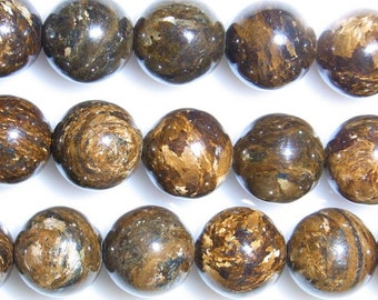 8mm Round Bronzite Beads Genuine Natural 15''L 38cm Loose Beads Semiprecious Gemstone Bead   Supply