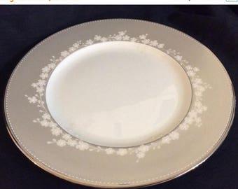 ON SALE Lenox BELLINA Platinum Salad Plate Bone China Beaded Rim Excellent Condition 8 1/4  in diameter & Lenox plates | Etsy