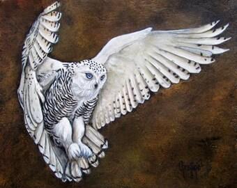 Owl In Flight Etsy