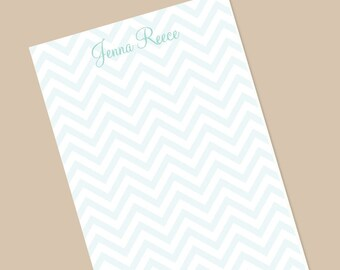 Chevron Notepad, Stationery, Personalized Notepad, Gift for her, Note Paper, Bridesmaid Gifts, Wedding Notes, Thank You Notes, Teacher gift