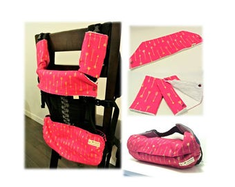 Gift for new mom - Baby carrier bib for Ergo 360-Arrows(pink)