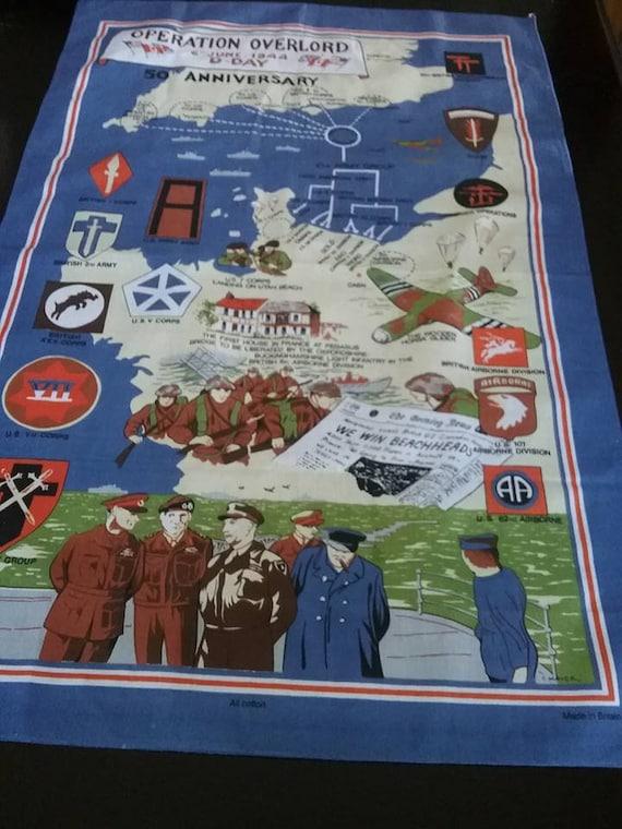Vintage Tea Towel, Retro WWII Cotton Fabric Poster, Churchill British Tea Towel, Kitchen Decor British Souvenir Towel, Retro Kitchen Towel