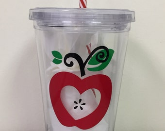 Personalized Tumbler Cup - Apple Heart