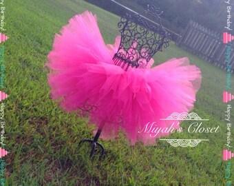 Pretty In Pink Tutu Hot Pink Tutu Birthday Tutu Cake Smash Tutu Pageant Tutu