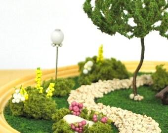 """Walk in the Park - A Miniature Terrarium Garden - 4"""" diameter"""