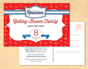 Family Reunion Save The Date, Family Reunion Invitation, Cookout Invitation, Save The Date, BBQ Save The Date, Company Picnic
