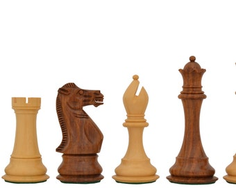 """The Collector Series Hand Crafted Wooden Club Chess Pieces in Shesham & Box Wood - 4.8"""" King. SKU: M0064"""