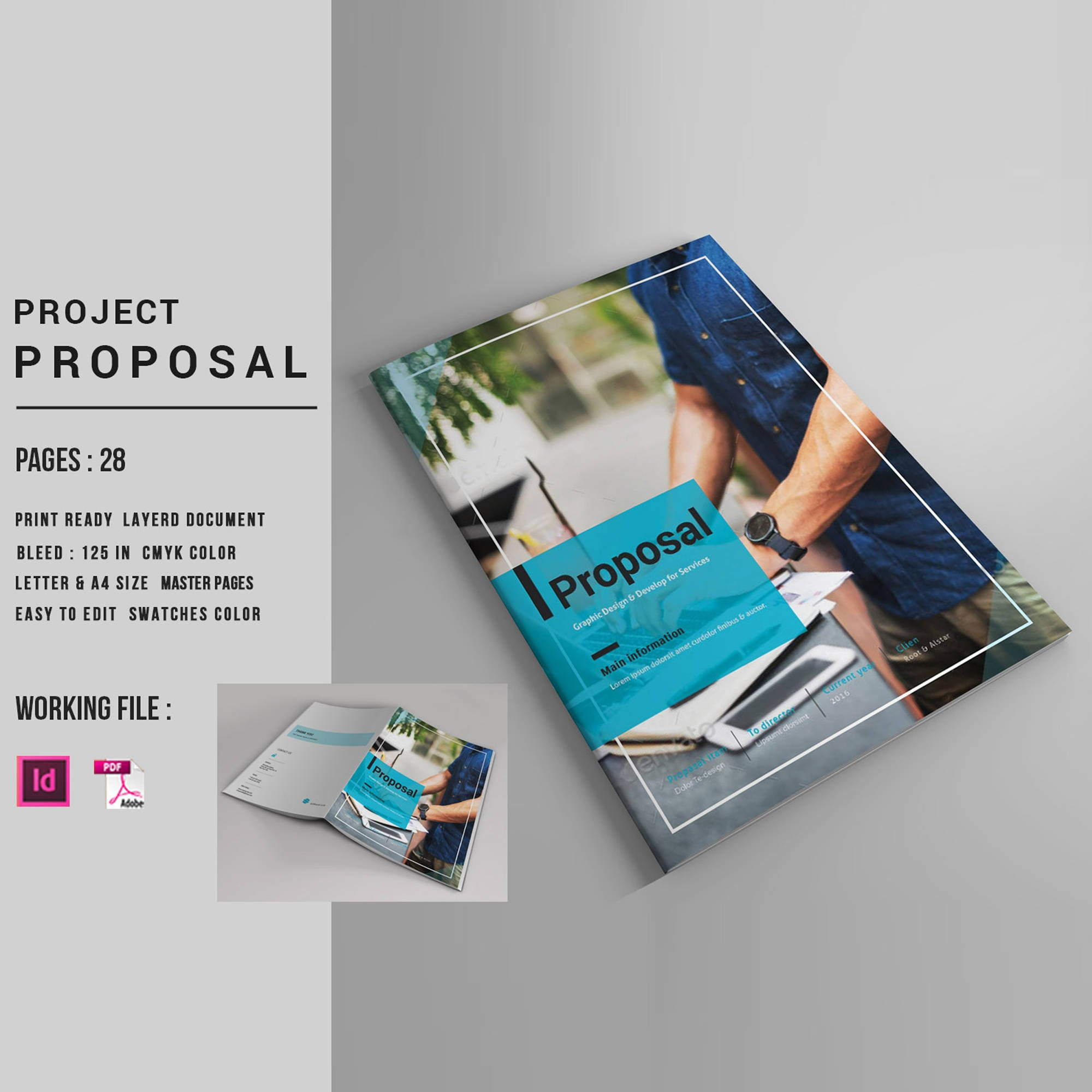 Business-Angebot Projekt Vorschlag InDesign-Vorlage V04