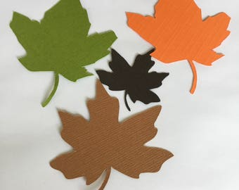 Leaves Shaped card cut outs.