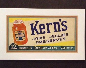 Kern's Jams & Jellies Vintage Art Giclee Print
