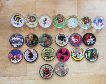 Pogs, Plastic and metal