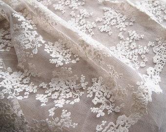 fabric embroidery, organza, tulle, Bohemian, romantic wedding