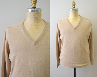 1970s Pringle Cashmere V-Neck Sweater