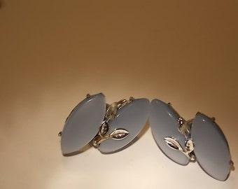 Vintage Baby Blue Moonglow Earrings