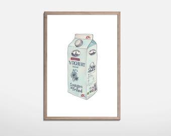 Yoghurt Illustration print