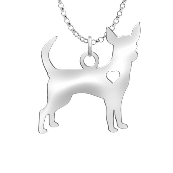 41c09aa58 ... best chihuahua necklace solid sterling silver chihuahua silhouette charm  personalized dog jewelry chihuahua earrings a5357 0c369