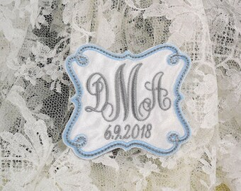Something blue for bride Wedding dress label or patch Wedding gown label or patch Bridal shower gift jfybride Style 1011