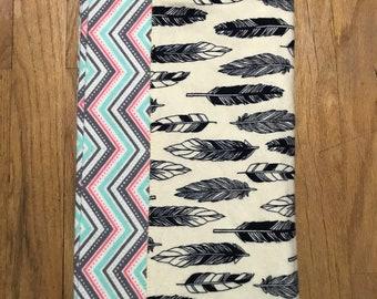 Feathers Receiving Blanket