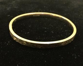 Antique 12K Gold Filled Bangle Bracelet