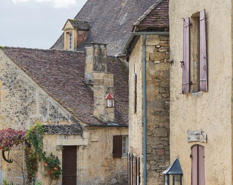 France Fine Art Photo - French Village of Beynac-et-Cazenac, French Home Decor, Large Wall Art, France Art Print, Travel Photography