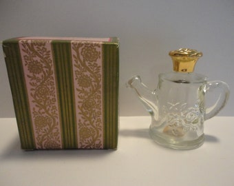 Avon collectible perfume bottle, Avon Flower Fancy watering can perfume bottle,Vintage collectible Avon perfume bottle