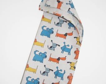 Linen & Cotton Tea Towel Dog Design
