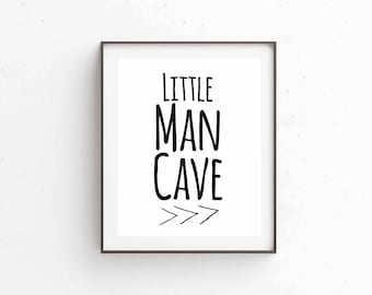 Little Man Cave instant print, 8x10 jpg and pdf, Perfect for bedroom or playroom