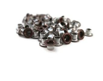 Brushed Copper, Copper Eyelets, 1/8 inch, Scrapbooking, 200 Eyelets, Round Metal, Eyelets, Copper Round, Scrap Booking, 1/8 Copper Eyelet