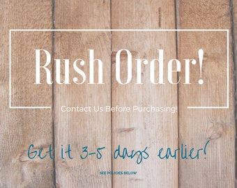 Rush Order fast shipping option, add-on item for any sale