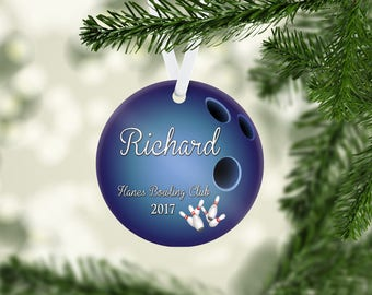 Bowling Ball Blue Ornament
