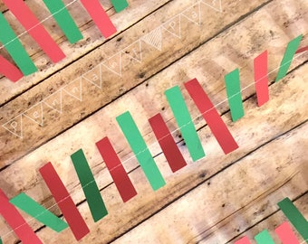 Christmas Paper Garland, 3D Holiday Decoration, 3D Christmas banner, Christmas Photo Prop, Holiday Party Decoration